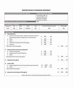 Sample Motor Vehicle Sale Agreement 15 Purchase Contract Samples Templates Google Docs