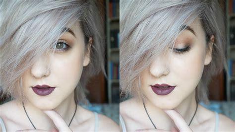 silverwhite hair tutorial brenna neal youtube