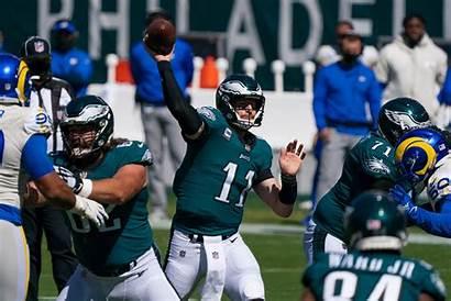 Eagles Philadelphia Wentz Carson Quarterback Rams Cowboys