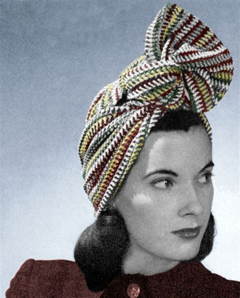 vintage girl jak zawiazac turban  stylu lat