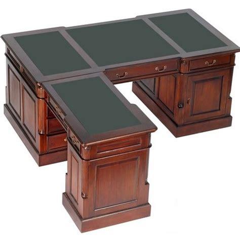 bureau style victorien bureau d 39 angle style anglais victorien acajou plateau vert