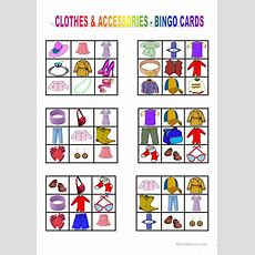 Clothes & Accessories  Bingo Cards Worksheet  Free Esl Printable Worksheets Made By Teachers