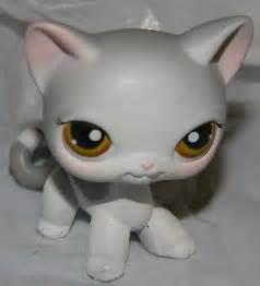 lps gray shorthair cat littlest pet shops lps and pet shop on