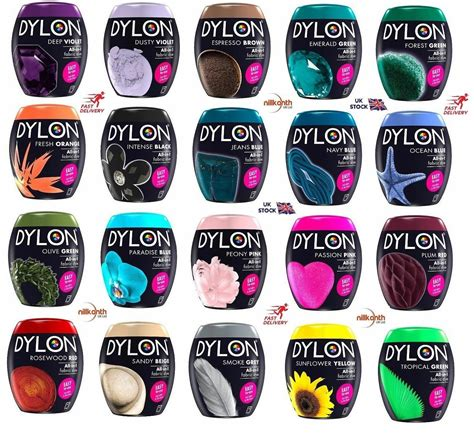 color dye for clothes 22 colours dylon fabric clothes dye machine wash 350g