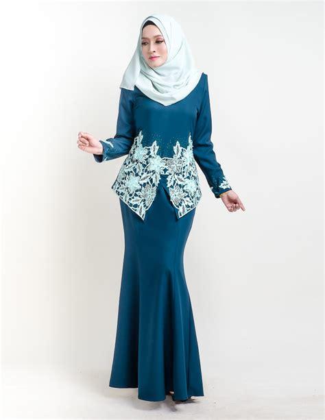 baju kurung moden pendek sereni turquoise