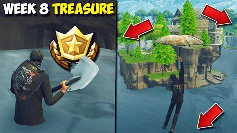Fortnite Week 8 Treasure Location!  Search Between Three
