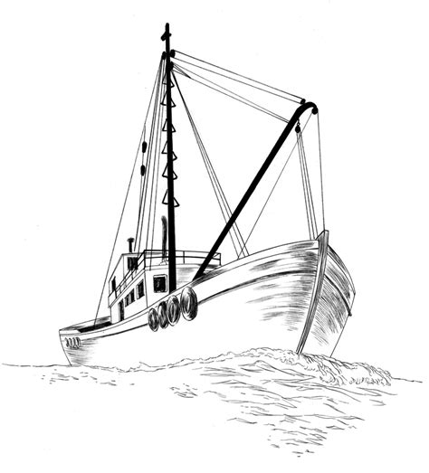 Boat Front View Drawing by Jed Drawing A Fishing Boat How Do You Draw A