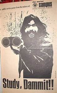 Stephen King in 1970 University of Maine campus poster ...