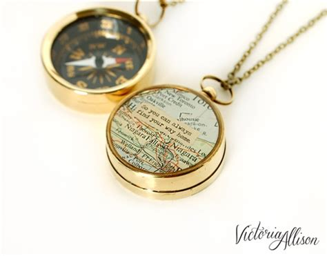 Working Compass Necklace With Vintage Map And Quote 2 Bedroom Apartments In Massachusetts Cheap Wall Art Sets Target Furniture White Formica Cleveland Ohio Amish One Kansas City Mo