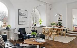 deco scandinave salon salle a manger With salle À manger contemporaine avec table esprit scandinave
