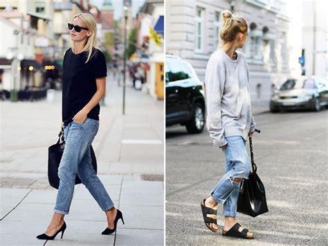 comment porter un jean boyfriend porter le jean boyfriend la cueillette