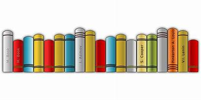 Shelf Books Clipart Pixabay Bookshelf Library Literature