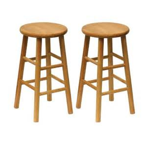 Solid Wood Swivel Bar Stools by Shop Winsome Wood Set Of 2 Casual Natural Counter Stools
