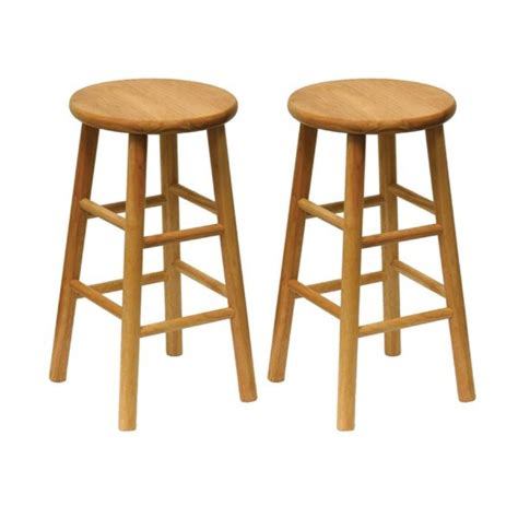 Wooden Bar Stools by Shop Winsome Wood Set Of 2 Natural Counter Stools At Lowes Com
