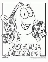 Coloring Bubble Guppies Pages Printable sketch template