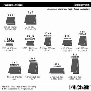 Card Making Size Chart Envelopments Pricing On All Our