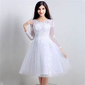 Real photo shooting vestido de noiva curto long sleeve v for Wedding dresses with sleeves cheap