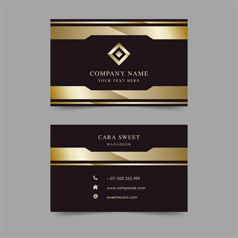 business card template ready to print business card template luxury vector free