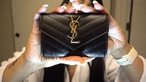 ysl small walet monogram small envelope wallet saint laurent youtube
