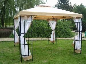 3 x 3m patio metal gazebo canopy tent pavilion garden for Garden tents