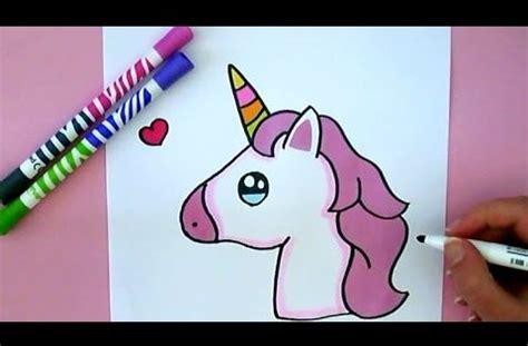 kawaii einhorn emoji malen youtube zeichnen