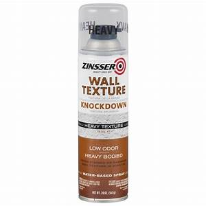 zinsser 20 oz wall texture knockdown heavy water based With spray paint for furniture home depot