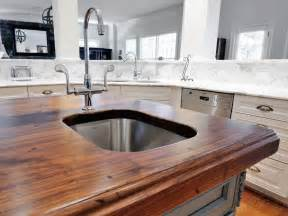 kitchen island countertop wood kitchen countertops pictures ideas from hgtv