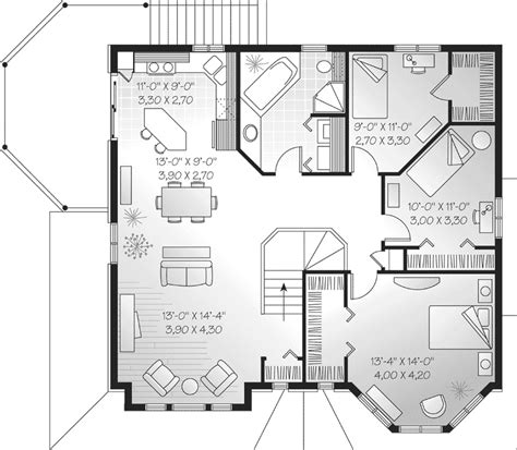 family floor plans selman duplex family home plan 032d 0371 house plans and