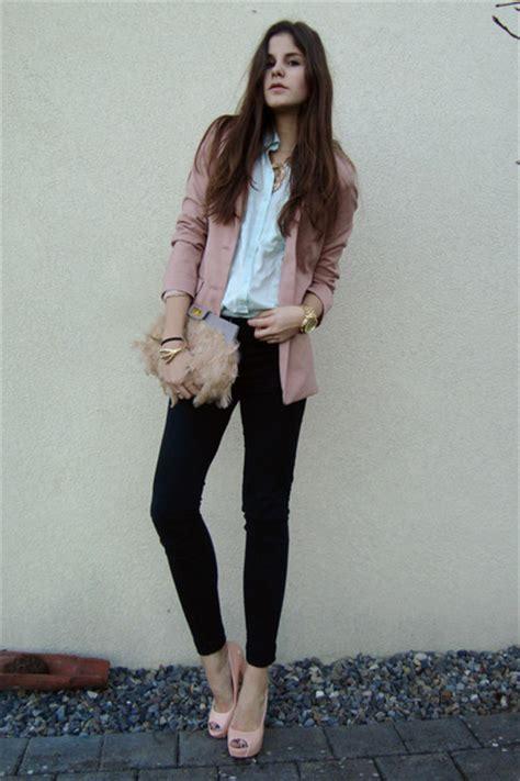 light pink blazer light pink blazers light blue shirts light pink heels