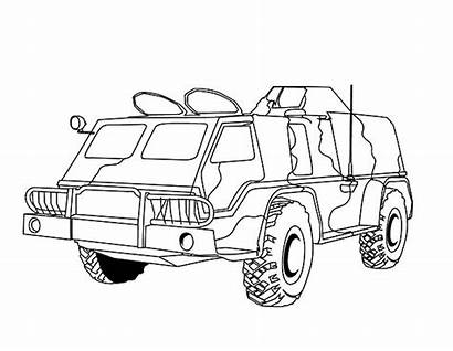 Vehicles Coloring Pages Military Army Printable Getcolorings