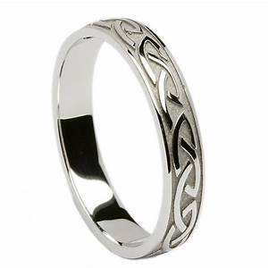 Irish Wedding Ring Celtic Knotwork Mens Wedding Band At