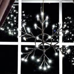 12 lighted snowflake battery operated rustic holiday lighting atlanta by iron accents