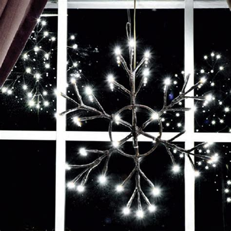 12 lighted snowflake battery operated rustic