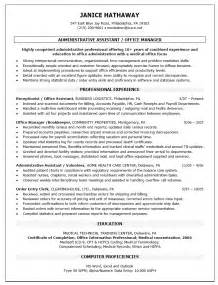 resume for assistant department manager office manager resume template recentresumes