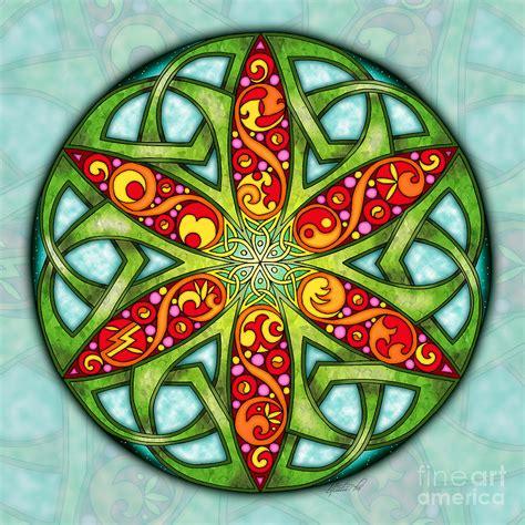 Celtic Summer Mandala Mixed Media by Kristen Fox