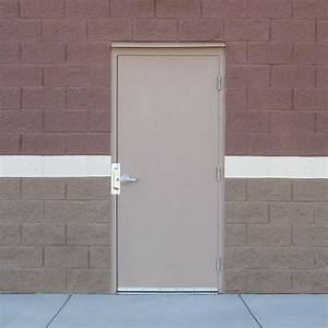 Flush commercial hollow metal doors industrial steel doors for Industrial steel doors exterior