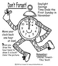 world of color times fall time change reminder coloring page printables for