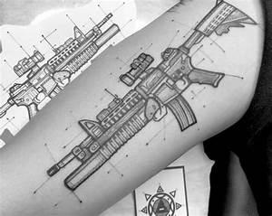 75 Ar 15 Tattoo Ideas For Men