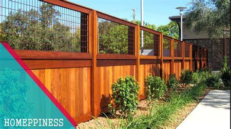 design   modern solid wood fence ideas youtube