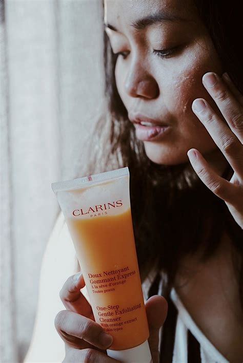 clarins  step skincare routine sweet jelly bean