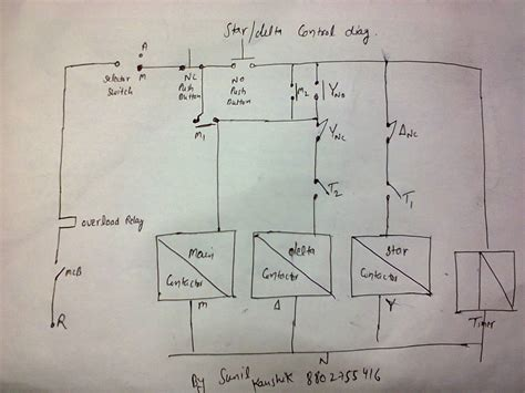 Electrical Contactor Wiring Diagram Additionally Star