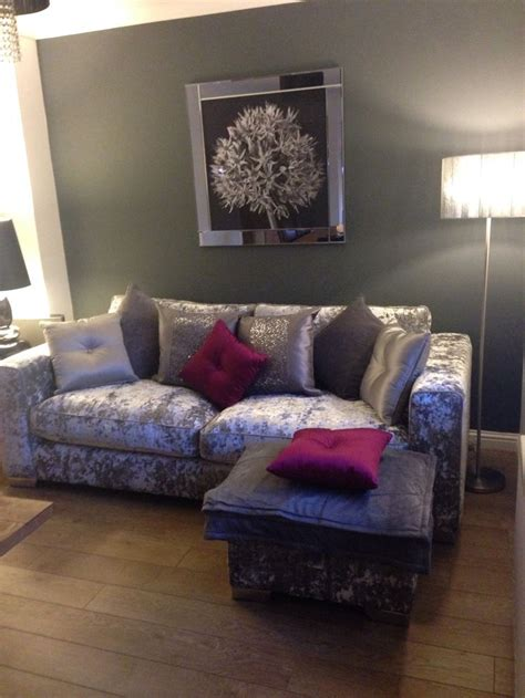 crushed velvet sofa it pink accent cushions with