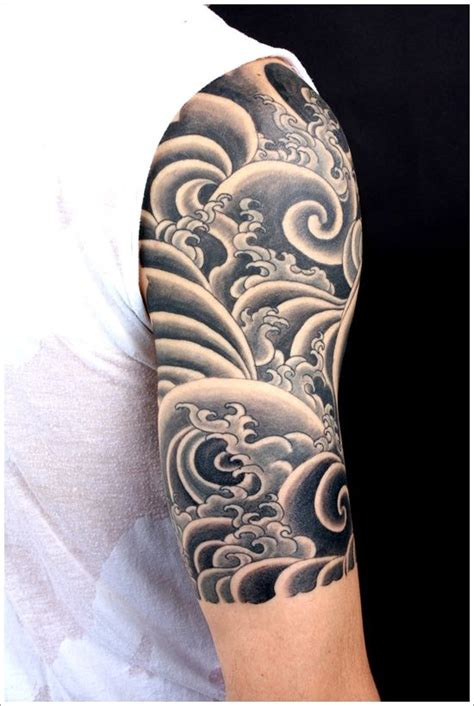 ideas  japanese wave tattoos  pinterest wave tattoo sleeve traditional