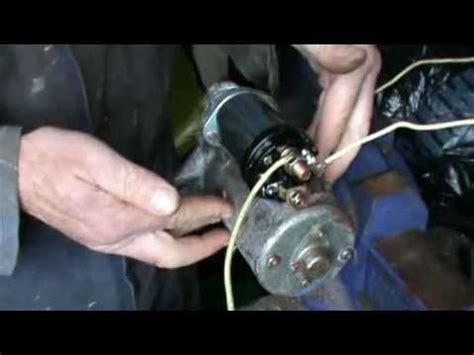 testing  replacing  pre engaged starter motor solenoid