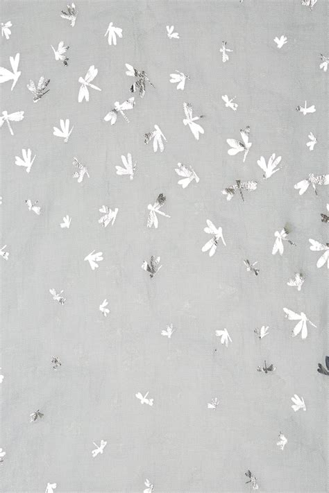 grijs folie print dragonfly sjaal