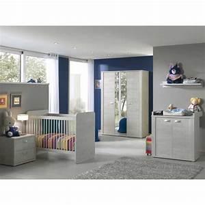 chambre bebe complete avec lit evolutif coloris chene blanc With chambre bébé design avec chambre de culture complete