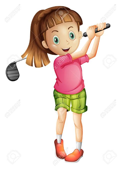 Image result for girl golf clipart
