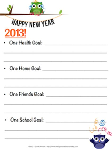 new year resolutions printable kid free new years resolutions for free printable shesaved 174