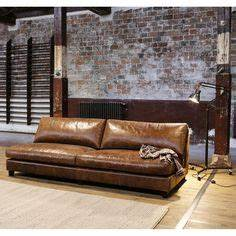 Living room design with cognac brown leather sofa for Tapis berbere avec canape cuir vintage camel