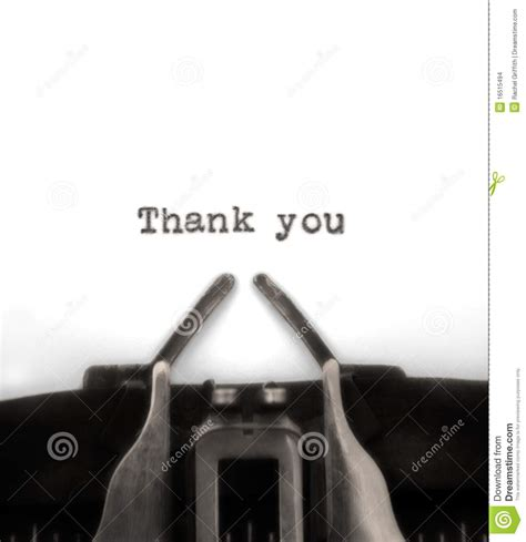 Thank You Typed By Vintage Typewriter Stock Images  Image 16515494